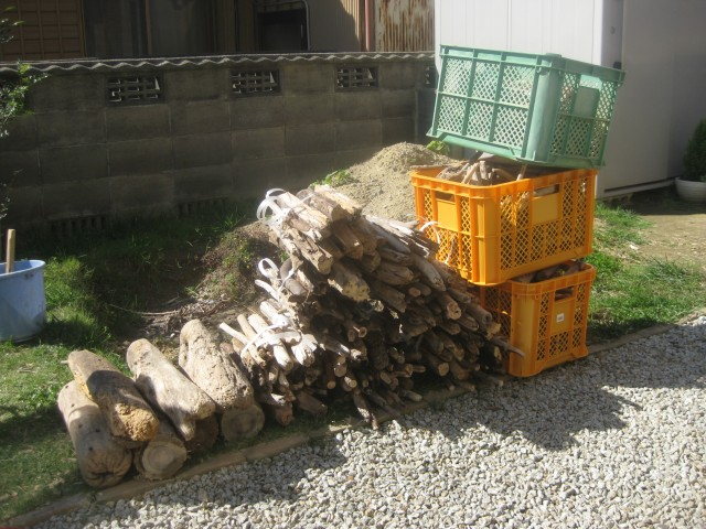 【暖房費節約】湿った流木から良く燃える乾燥した薪を作る方法