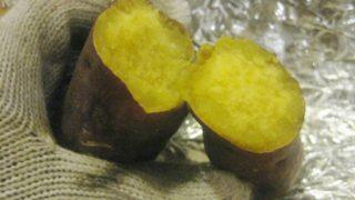 石釜付きの自作薪ストーブで作った焼き芋