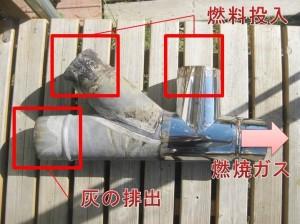 ロケットストーブの燃焼室の説明