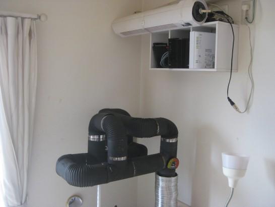 自作ロケットストーブの室内側熱交換器を改良