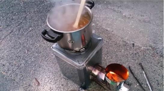 一斗缶ロケットストーブの作り方