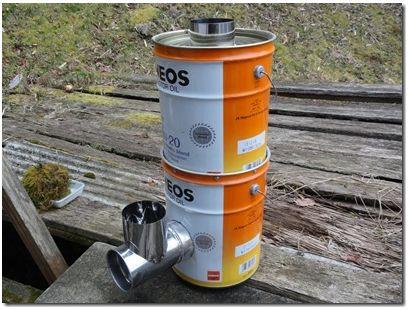 田舎暮らしの必需品!ペール缶ロケットストーブを製作
